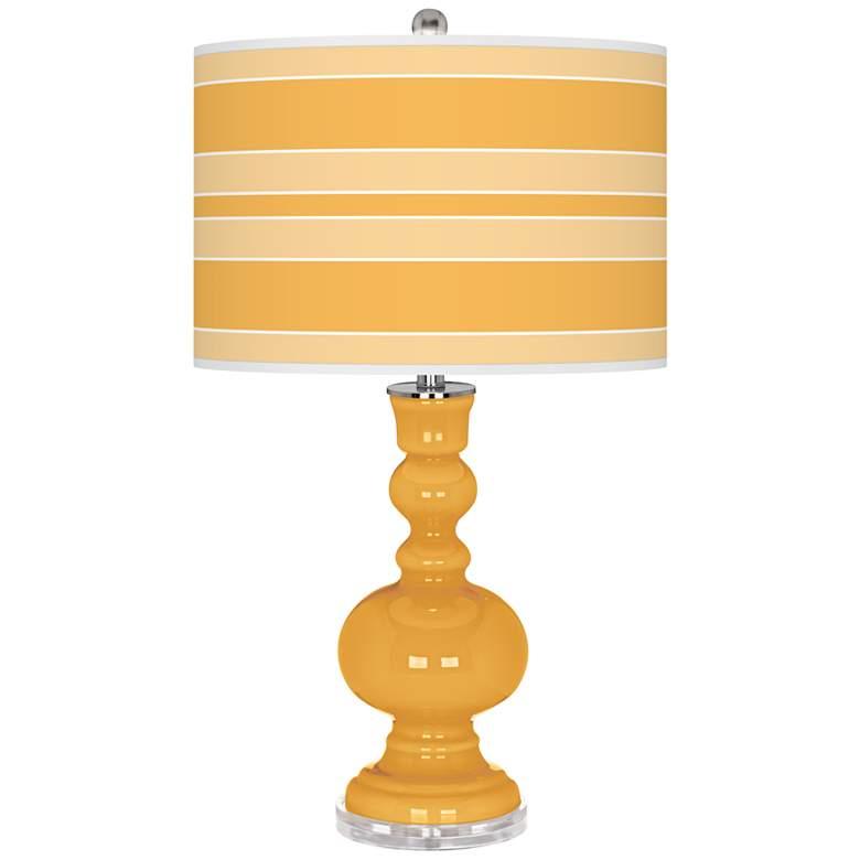 Marigold Bold Stripe Apothecary Table Lamp
