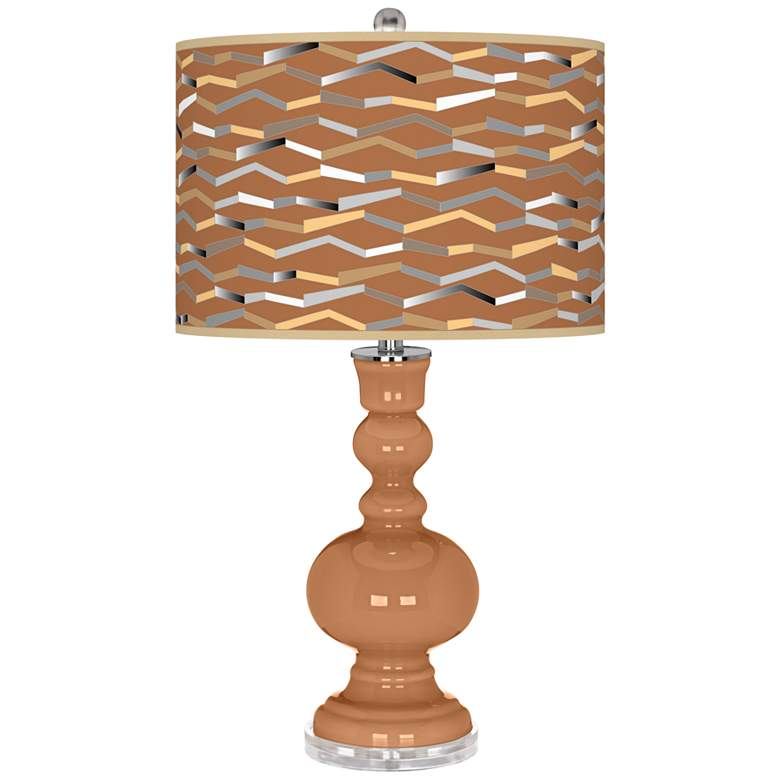 Burnt Almond Shift Apothecary Table Lamp