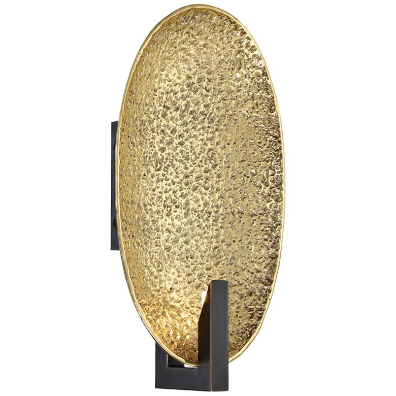 "Metropolitan Dari 14 1/2"" High Brass and Bronze Oval Wall Sconce"