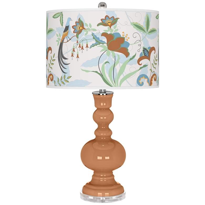 Burnt Almond Sofia Apothecary Table Lamp