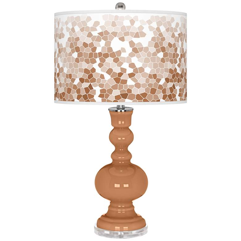 Burnt Almond Mosaic Apothecary Table Lamp