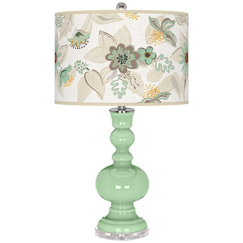 Flower Stem Mid Summer Apothecary Table Lamp
