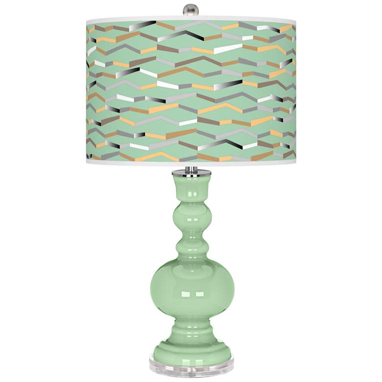 Flower Stem Shift Apothecary Table Lamp