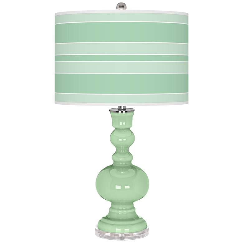 Flower Stem Bold Stripe Apothecary Table Lamp