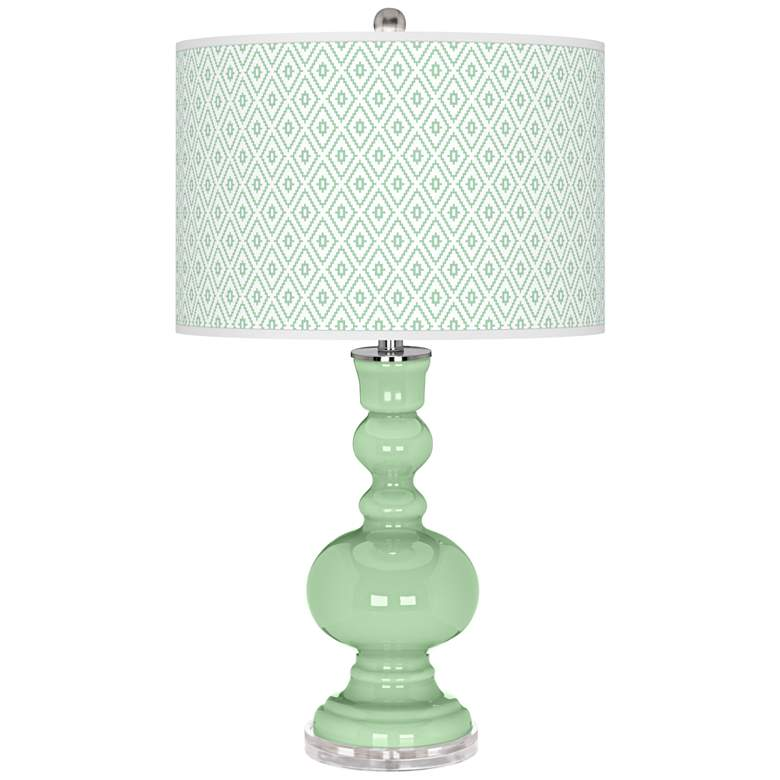 Flower Stem Diamonds Apothecary Table Lamp