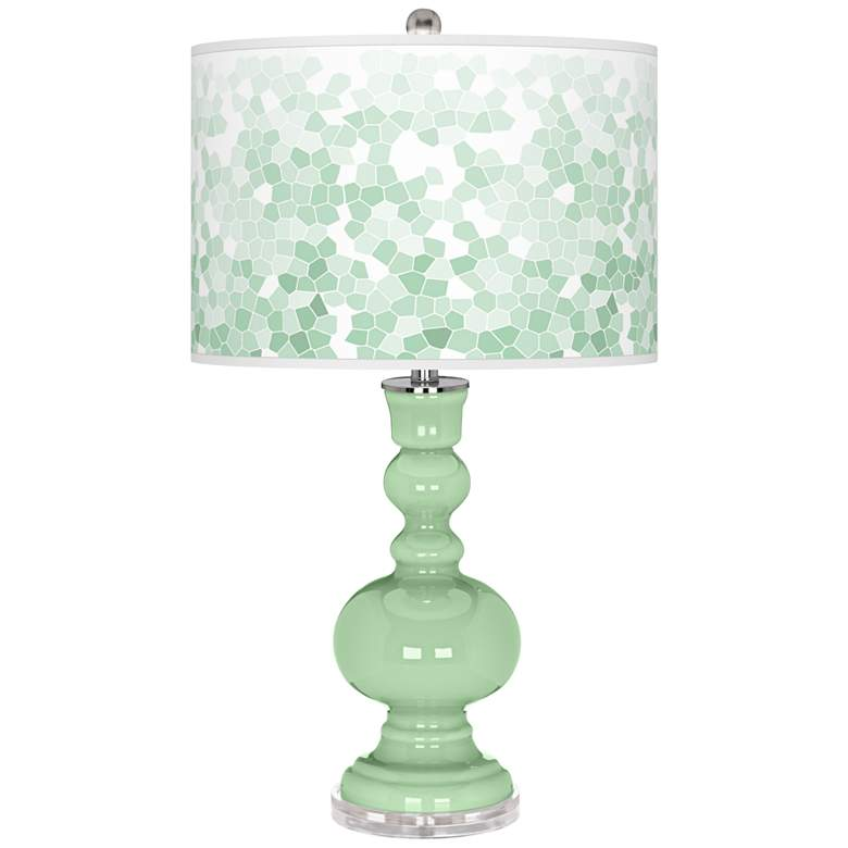 Flower Stem Mosaic Apothecary Table Lamp