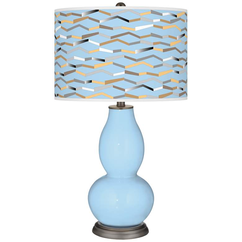 Wild Blue Yonder Shift Double Gourd Table Lamp