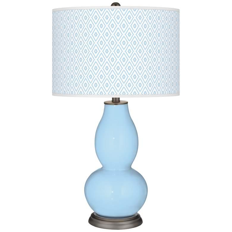 Wild Blue Yonder Diamonds Double Gourd Table Lamp