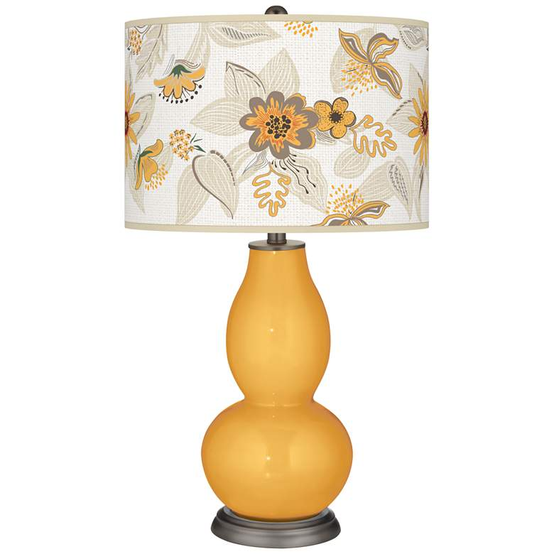Marigold Mid Summer Double Gourd Table Lamp