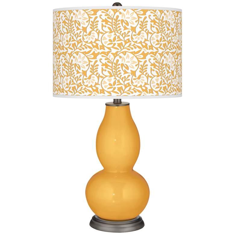 Marigold Gardenia Double Gourd Table Lamp