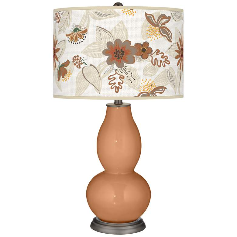 Burnt Almond Mid-Summer Double Gourd Table Lamp