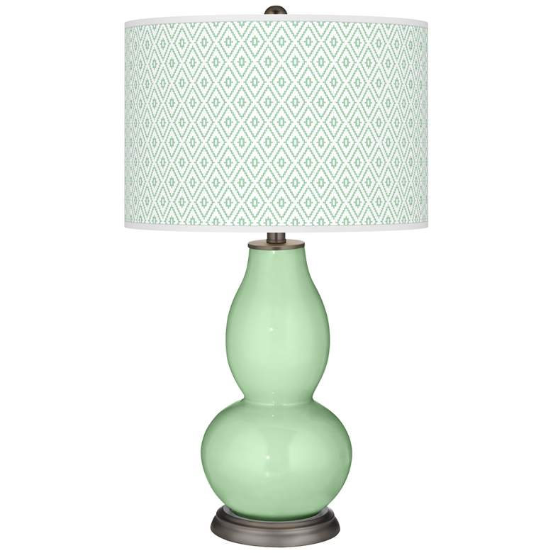 Flower Stem Diamonds Double Gourd Table Lamp