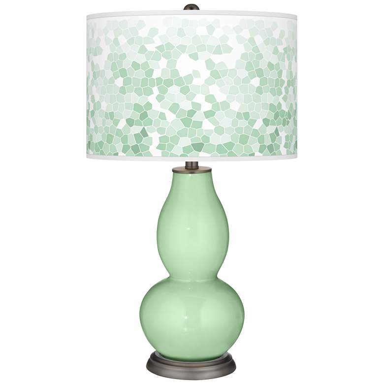 Flower Stem Mosaic Double Gourd Table Lamp