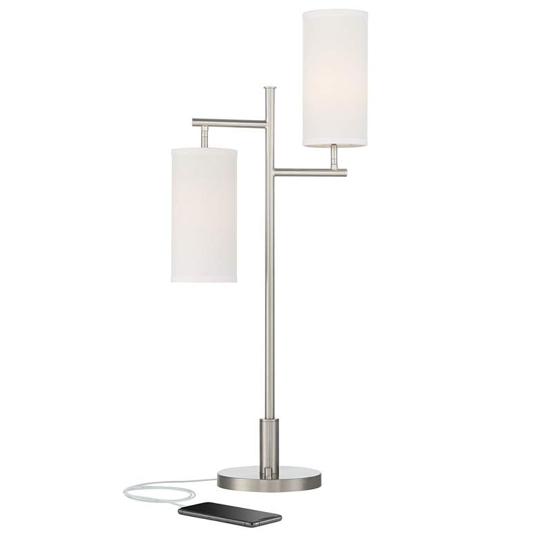 Possini Euro Smyth 2-Light Modern USB Table Lamp