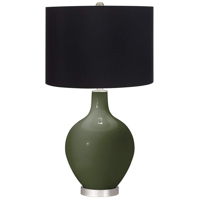 Secret Garden Ovo Table Lamp with Black Shade