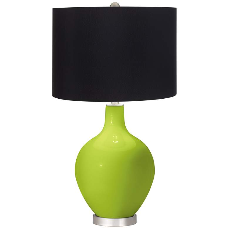 Tender Shoots Ovo Table Lamp with Black Shade