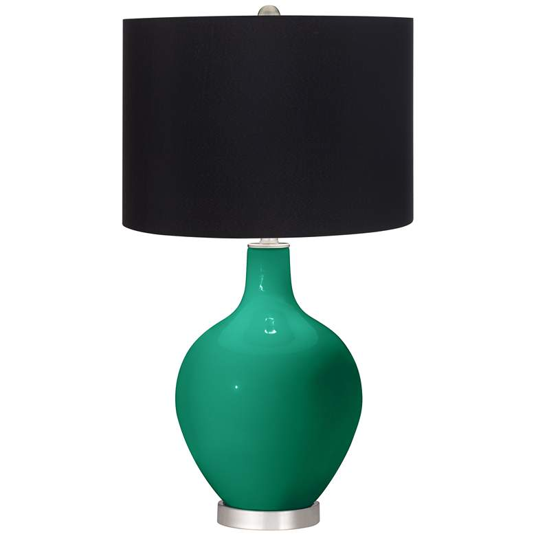Leaf Ovo Table Lamp with Black Shade