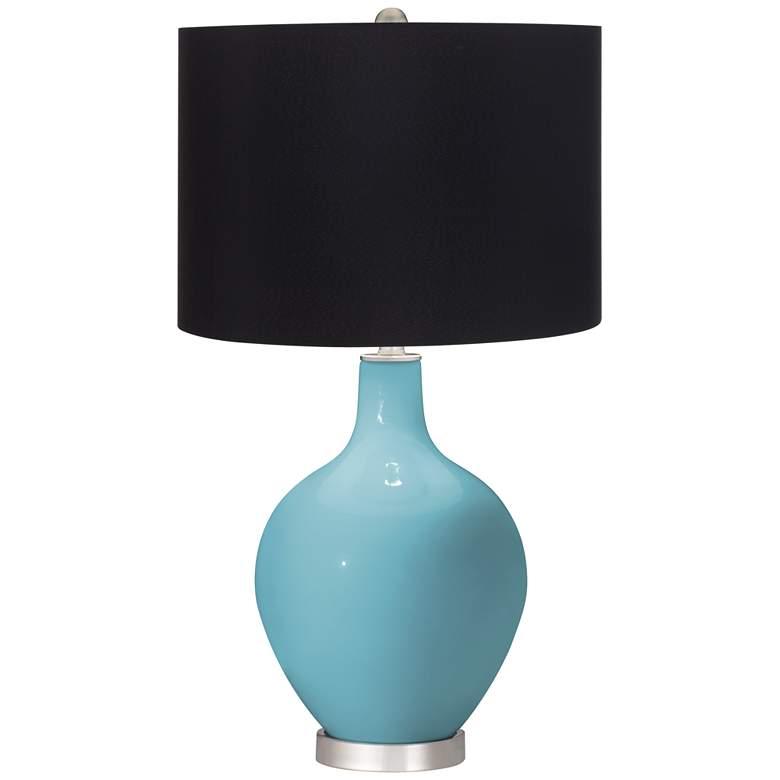 Nautilus Ovo Table Lamp with Black Shade