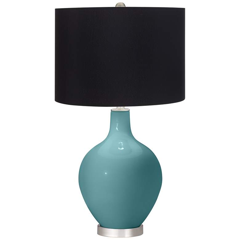 Reflecting Pool Ovo Table Lamp with Black Shade