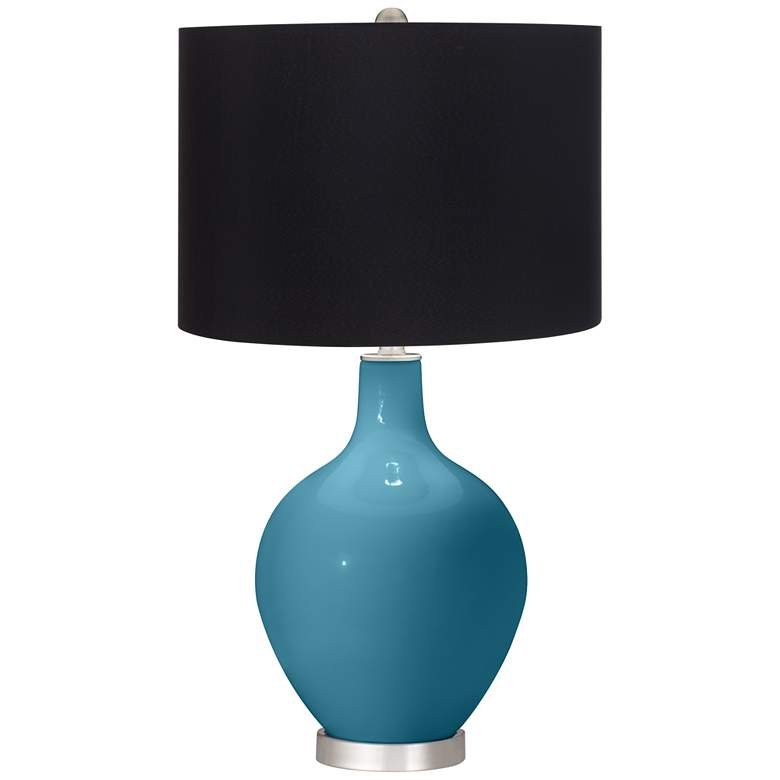 Great Falls Ovo Table Lamp with Black Shade