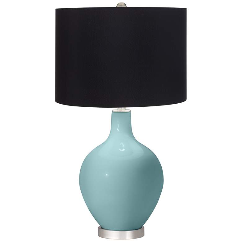Raindrop Ovo Table Lamp with Black Shade