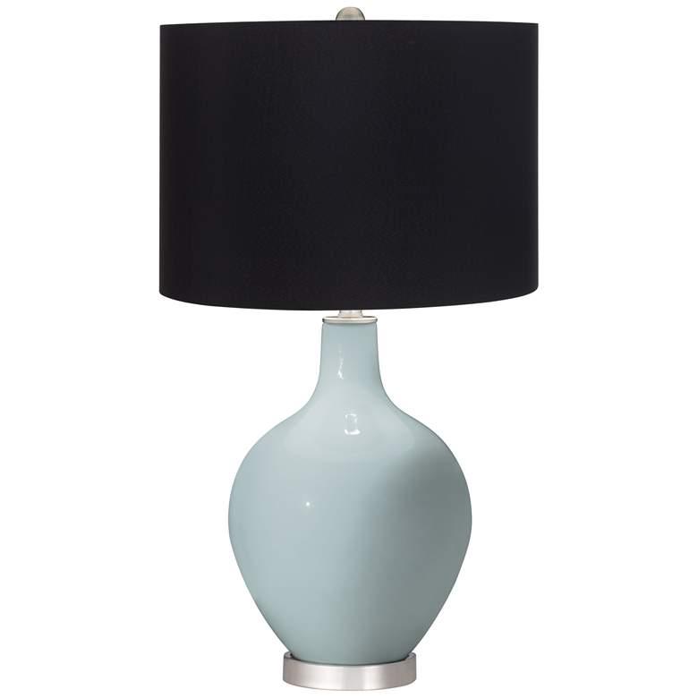 Rain Ovo Table Lamp with Black Shade