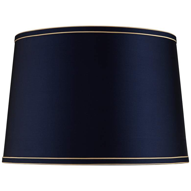 Navy Blue Shade with Navy and Gold Trim 14x16x11 (Spider)