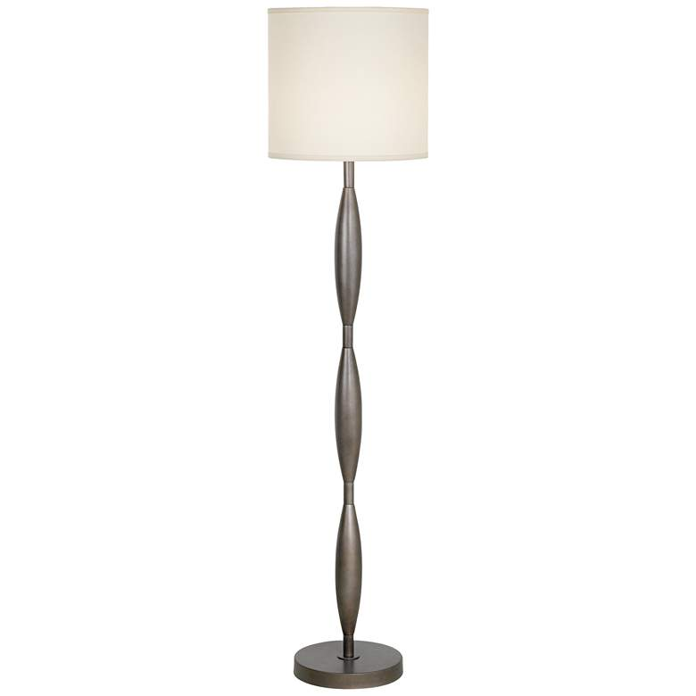 Copper Bronze Finish Modern Twist Floor Lamp