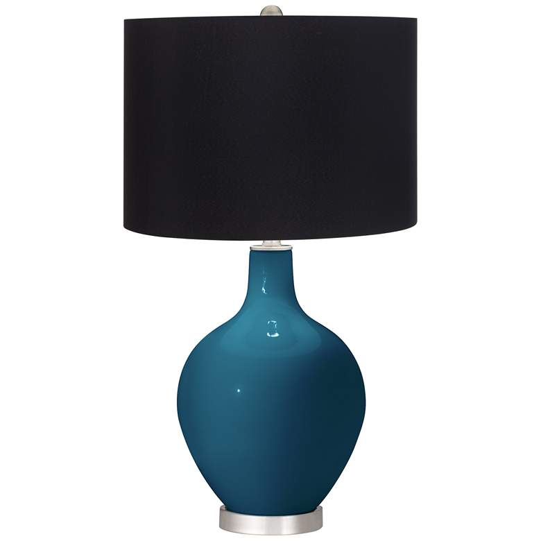 Oceanside Ovo Table Lamp with Black Shade
