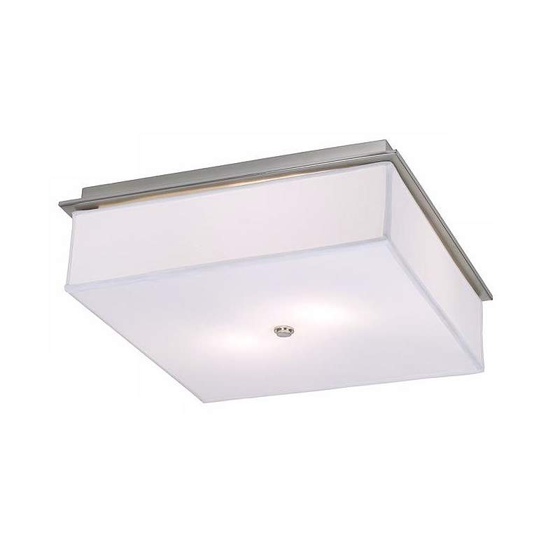 """Ireland 17"""" Wide Brushed Nickel Square Ceiling Light"""