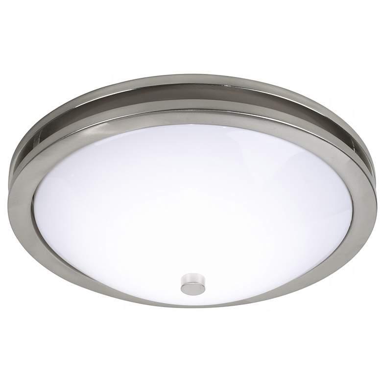 "Dramona 15"" Wide Brushed Nickel Round Ceiling Light"