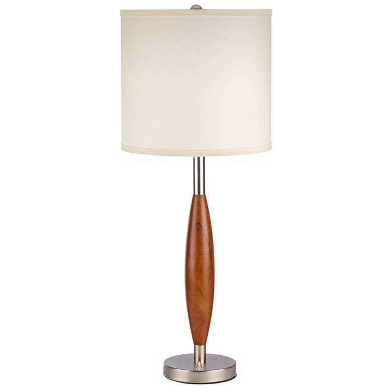 Vivaldi Brushed Nickel Cherry Blossom Wood Table Lamp