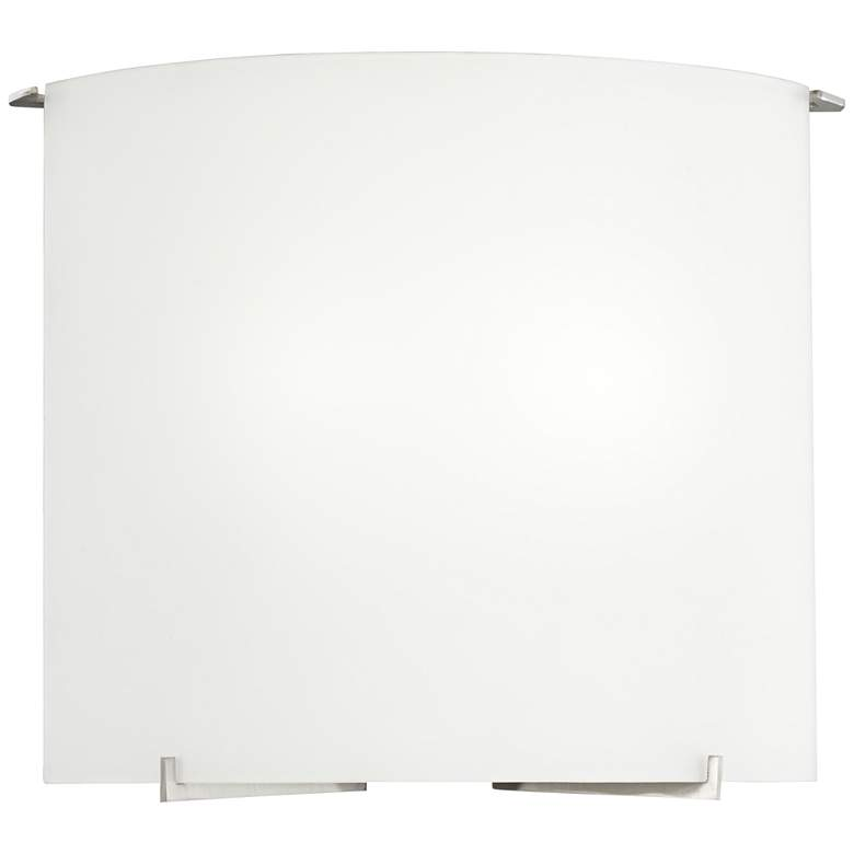 """Fresco 10 1/4"""" High Frosted White Glass Wall Sconce"""