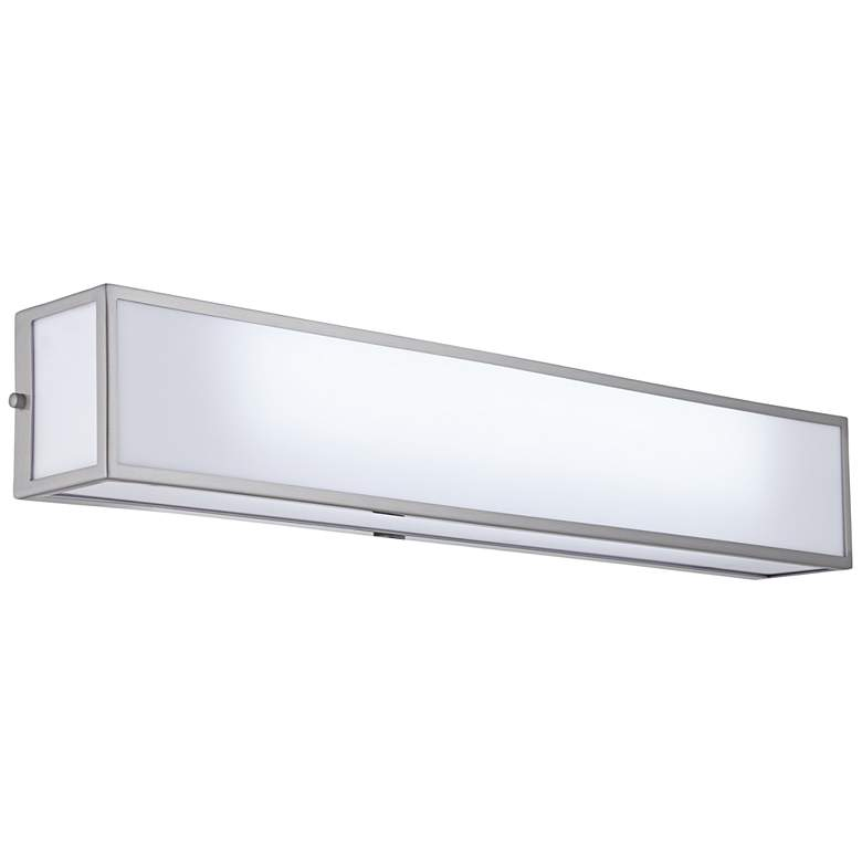"""Chance 30"""" Wide Frosted White Acrylic LED Bath Light"""