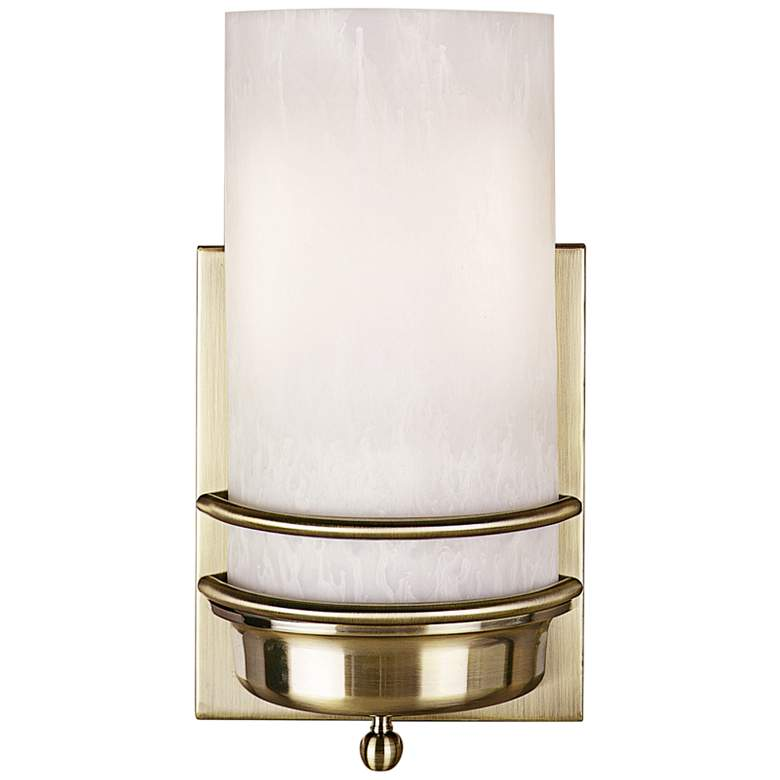 """Zurich 17 1/2"""" High Antique Brass Double Band Wall Sconce"""