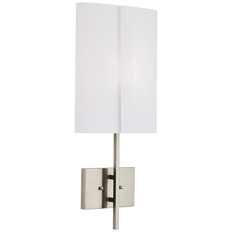 """Lennon 24 1/2"""" High Brushed Nickel White Acrylic Wall Sconce"""