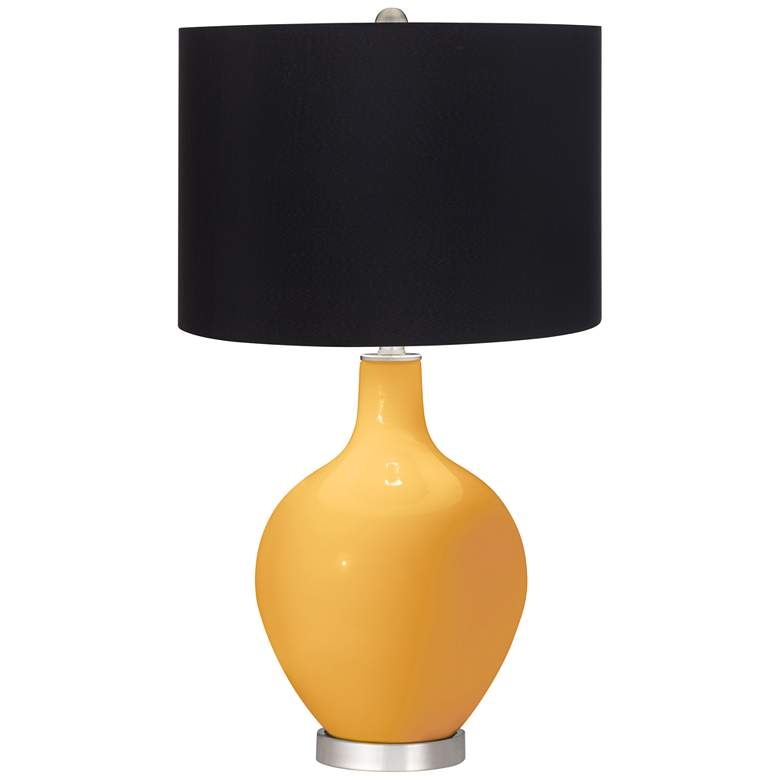 Marigold Ovo Table Lamp with Black Shade