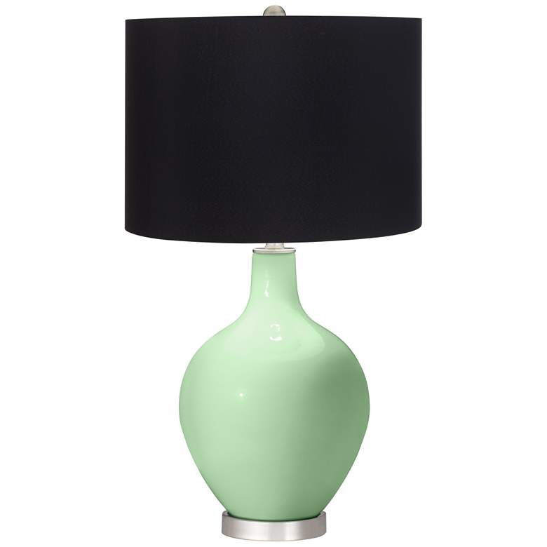 Flower Stem Ovo Table Lamp with Black Shade