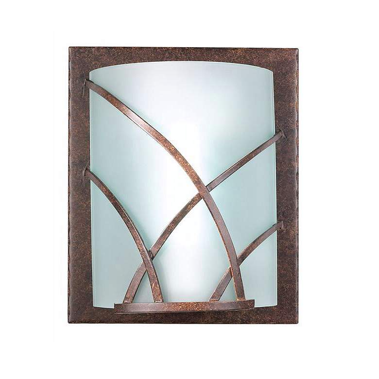 """Revele 12"""" High Bronze Wall Sconce with Art Glass Shade"""