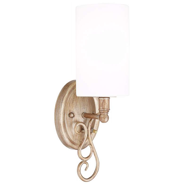 """Haley 16 1/2"""" High Curl Wall Sconce with On-Off Switch"""