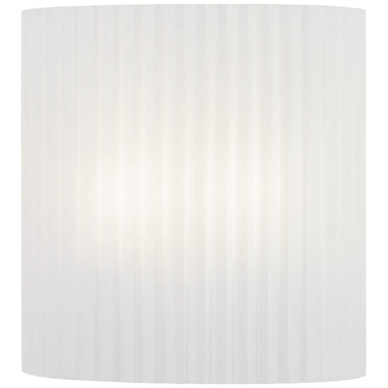 """Clementine 10 1/2"""" High Striped White Acrylic Wall Sconce"""