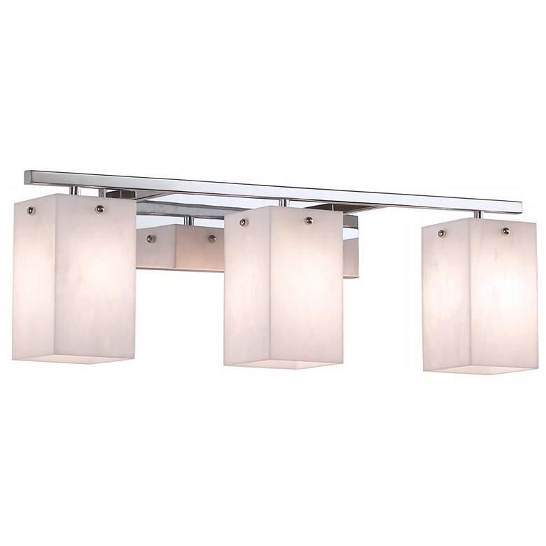 """Korie 27"""" Wide Polished Chrome 3-Light Bath Light"""