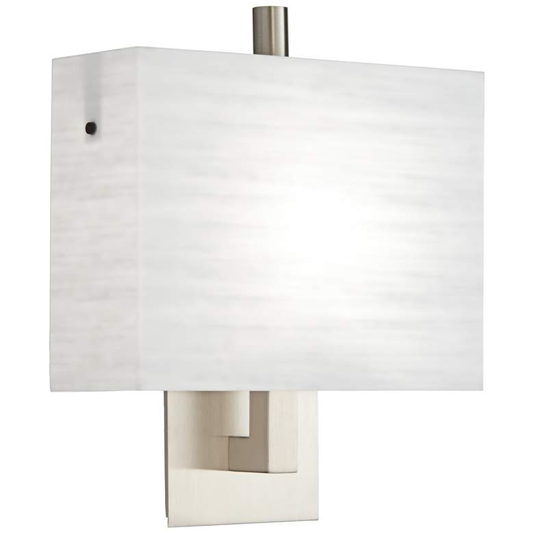 """Trebeca 12 1/2"""" High Brushed Nickel Wall Sconce"""