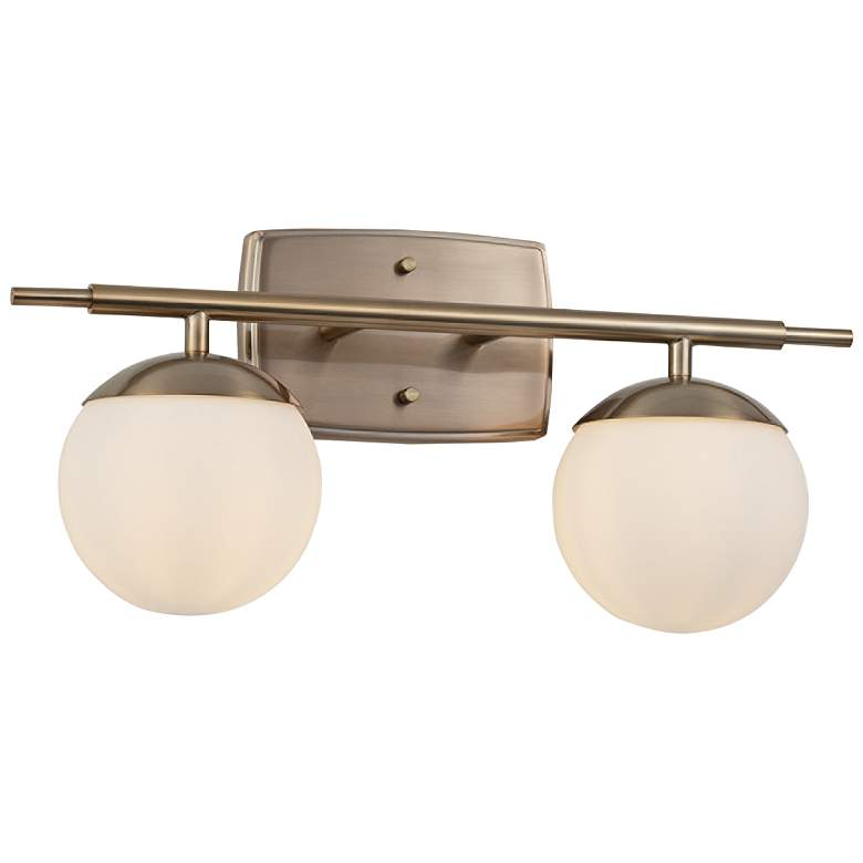 "Fusion™ Epoch 8 1/2"" High Brass 2-Light Wall Sconce"