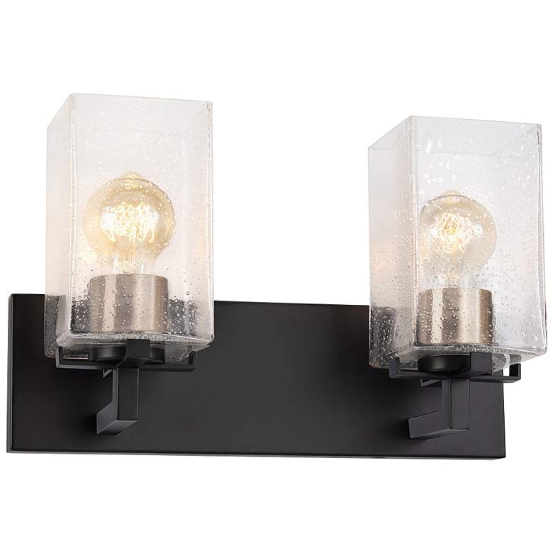 """Fusion™ Vice 9"""" High Black Brass 2-Light Wall Sconce"""