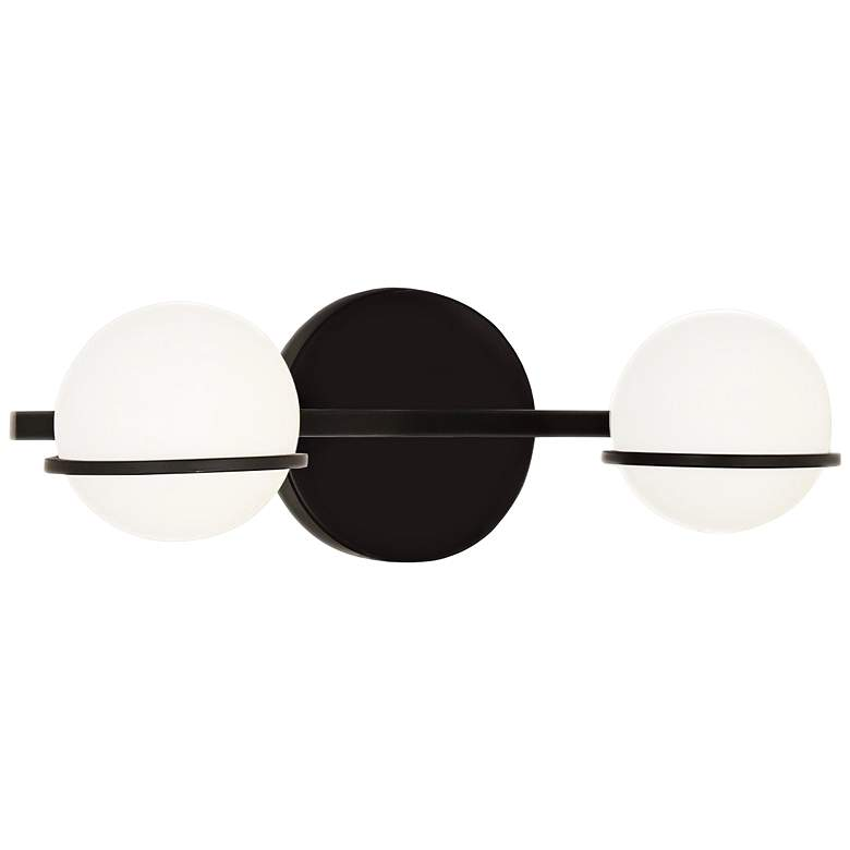"""Fusion™ Centric 5"""" High Black 2-Light LED Wall Sconce"""