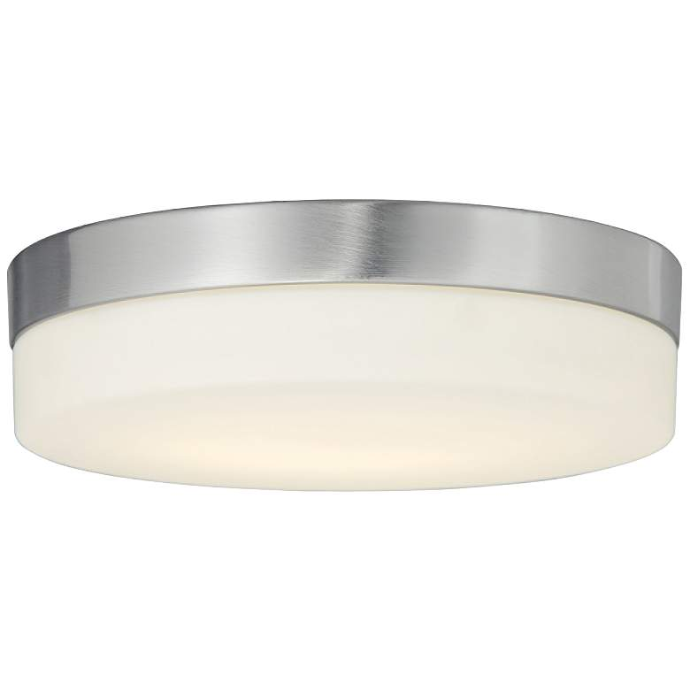 """Fusion™ Pixel 11"""" Wide Nickel Round LED Ceiling Light"""
