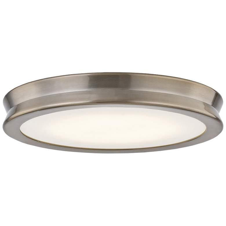 "Fusion™ Bevel 12 1/2""W Brushed Brass LED Ceiling Light"