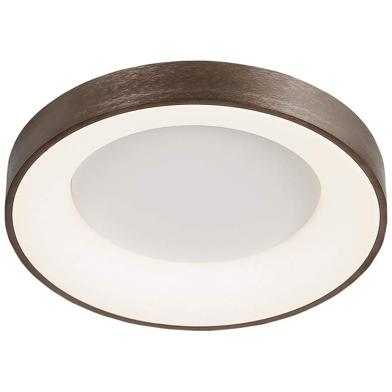 "Acryluxe™ Sway 15"" Wide Light Bronze LED Ceiling Light"