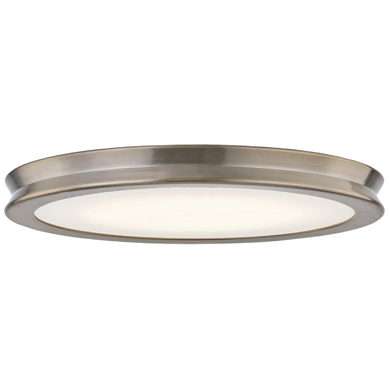 "Fusion™ Bevel 16 1/2""W Brushed Brass LED Ceiling Light"